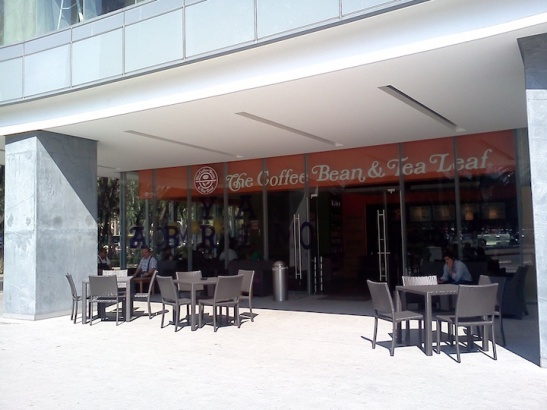 The Coffee Bean's newly opened location at Capital Reforma. (Photo: Darren Popik)