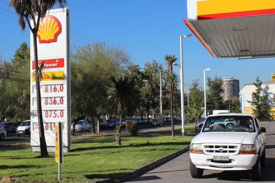 Shell Station in Santiago's Providencia neighborhood. (Photo: Darren Popik)