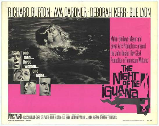 Official Movie Poster for Night of the Iguana.