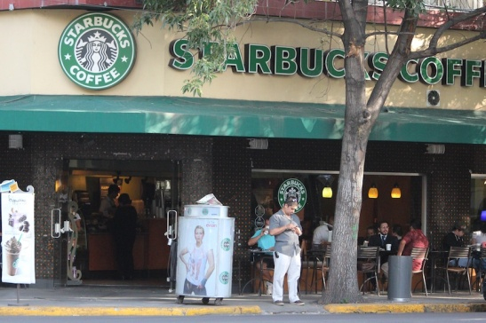 Starbucks' Condesa café on Tamaulipas. (Photo: Darren Popik)