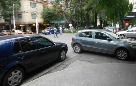 Parking ON a street corner? You're asking for it.