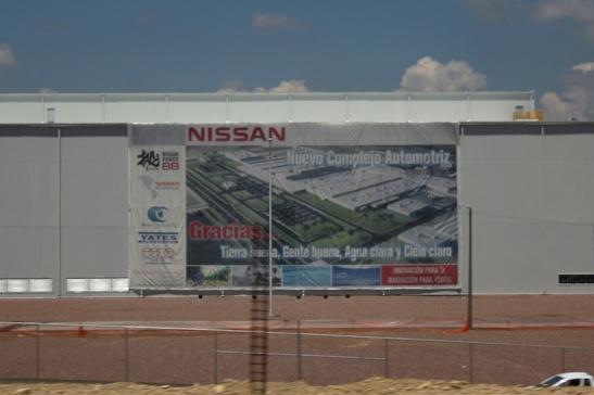 Nissan's second Aguascalientes plant, nearing completion. (Photo: Darren Popik)