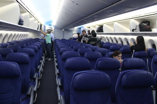 Economy Class. Notice the big overhead bins? (Photo: Darren Popik)