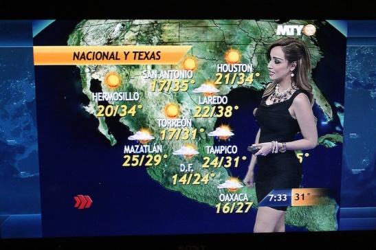 Televisa Monterrey's Gaby Lozoya.