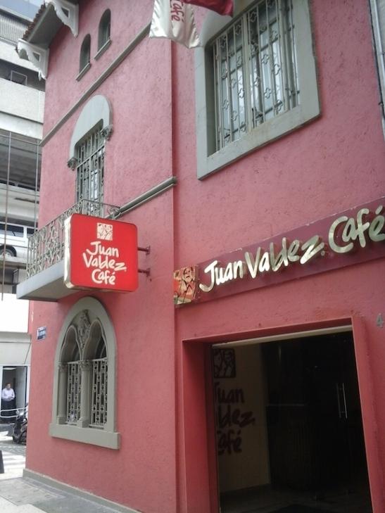 Juan Valdez Café's newest Mexico City location, on Reforma at Dublin.