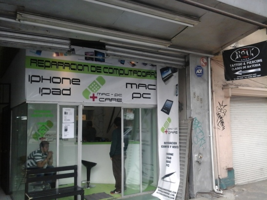 The new location of the fly-by-night Mac PC Care, on Insurgentes Sur.
